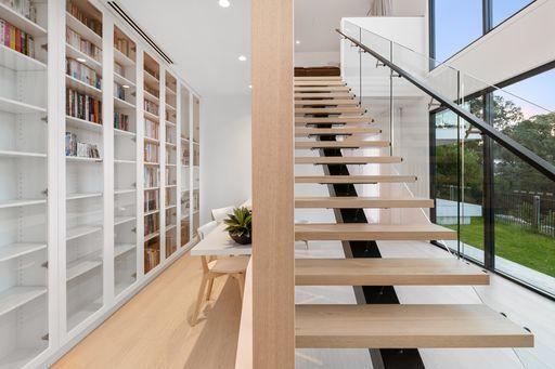 Galvanised Steel & Solid Timber Internal Staircase